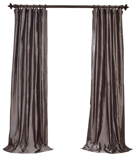 Steel Grey Curtains Steel Gray Dupioni Silk Curtain Single Panel Contemporary Curtains By Half Price Drapes