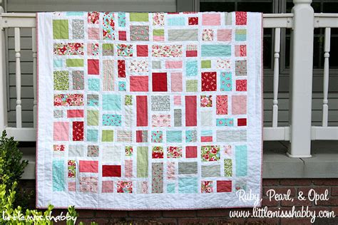 quilt pattern moda ruby pearl and opal quilt 171 moda bake shop