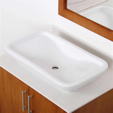 Rectangle Bathroom Sinks by Elite Ceramic Bathroom Sink With Unique Rectangle Design