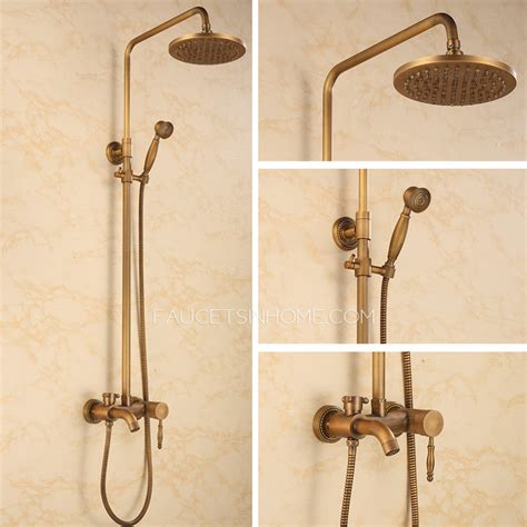 Brass Faucet Kitchen by Chic Vintage Brass Shower Faucet With Top And Hande Shower