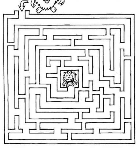 printable art mazes find the good road easy maze printable worksheet mazes