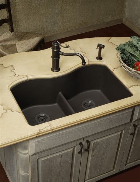 what are kitchen sinks made of elkay e granite