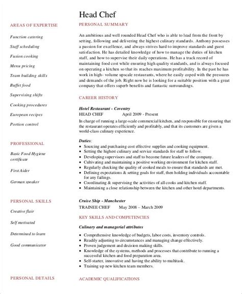 Resume Sle For Executive Chef 59 executive resume templates free premium templates