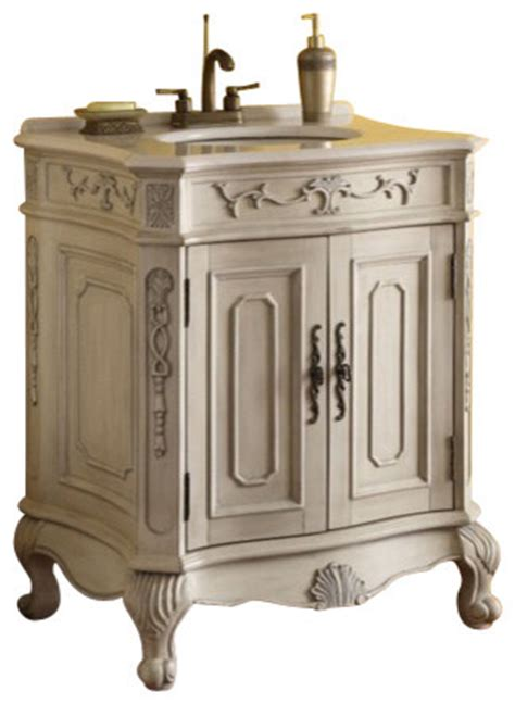 victorian style bathroom cabinets verena vanity with wood wash basin antique white finish