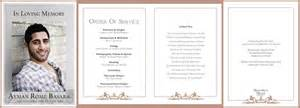 order of service funeral template design gallery memorial media sydney