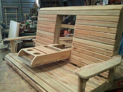 wooden swing  folding console  drink holder