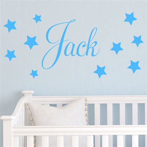 name wall stickers personalised children s name wall sticker decal