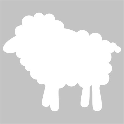 Wall Sticker White Sheep wallstickers folies sheep whiteboard wall stickers
