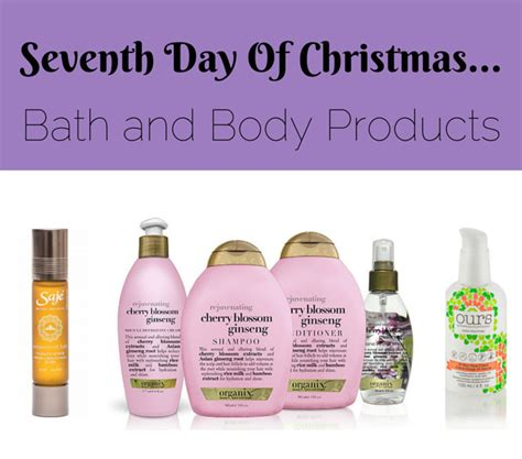 seventh day of christmas bath and body products to help