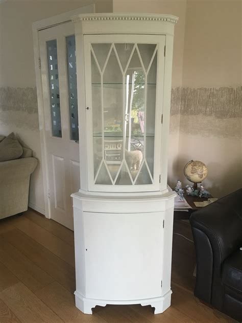 shabby chic corner display cabinet for sale in uk