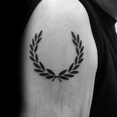 60 laurel wreath tattoo designs for men branch ink ideas