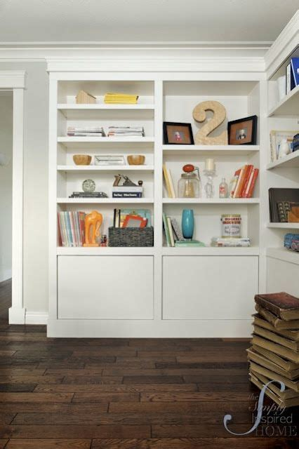built in look from ikea bookcases storage ideas pinterest