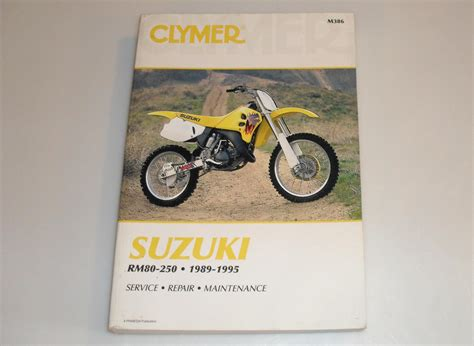 Suzuki Rm80 Manual Clymer Suzuki Rm80 250 1989 1995 Motorcycle Review And