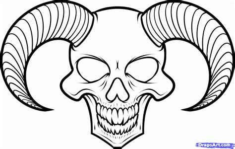 devil heart coloring page how to draw a devil skull devil skull tattoo step by