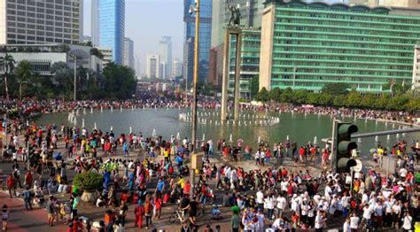 Jakarta Car Free Day 1 000 aparat amankan parade tauhid di jalur car free day