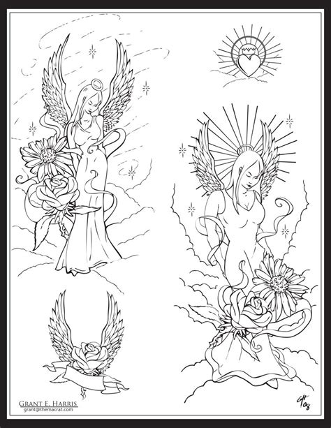 tattoo flash of angels angel tattoo flash hot girls wallpaper