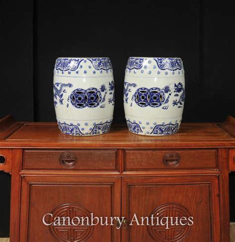 garten hocker paar chinesisch nanking blau und wei 223 porzellan garten