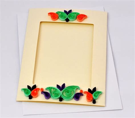 Handmade Frame Designs - quilling photo frame designs 2015 quilling