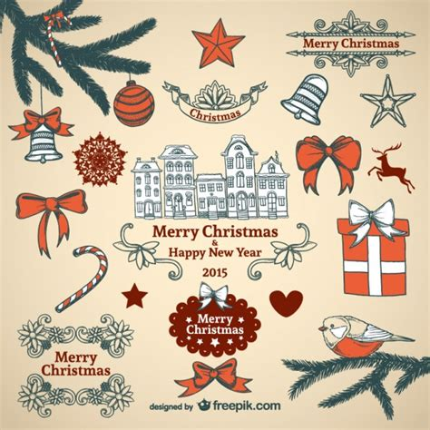 ornaments collections vintage ornaments collection vector free