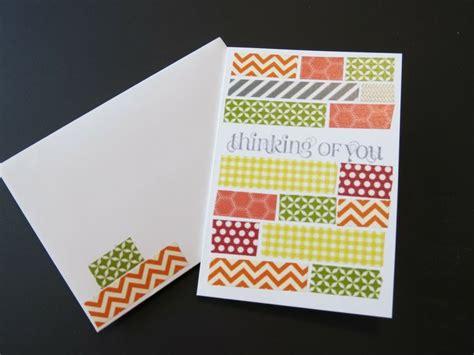 washi card washi greeting cards stin up sting