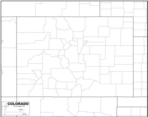 Colorado Map Outline by Free Map Of Colorado