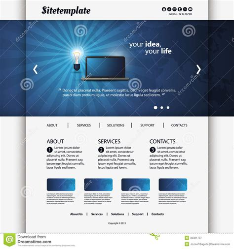Website Template Royalty Free Stock Photography Image 32321737 Modern Business Website Templates