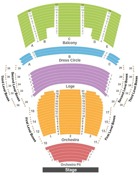 progress energy center seating chart of the age mahaffey theater at the progress