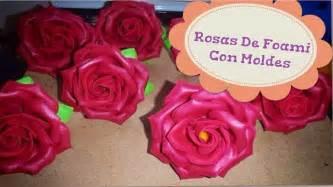 Como hacer rosas de foami con moldes youtube