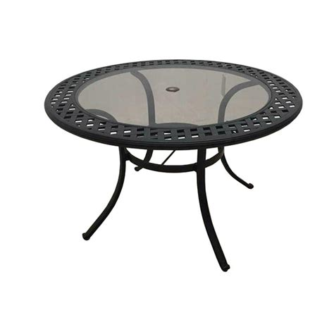 Hton Bay Tobago Rectangular Extendable Patio Dining Metal Patio Dining Table