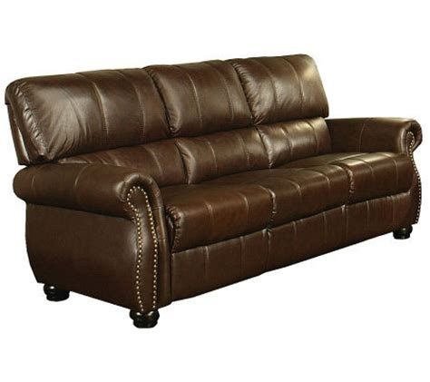 Abbyson Leather Sofa Abbyson Living Lorenzo Italian Leather Sofa Qvc