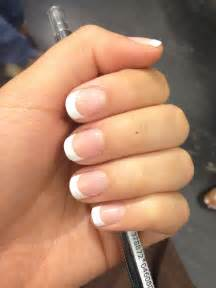 gallery for gt short round acrylic nails