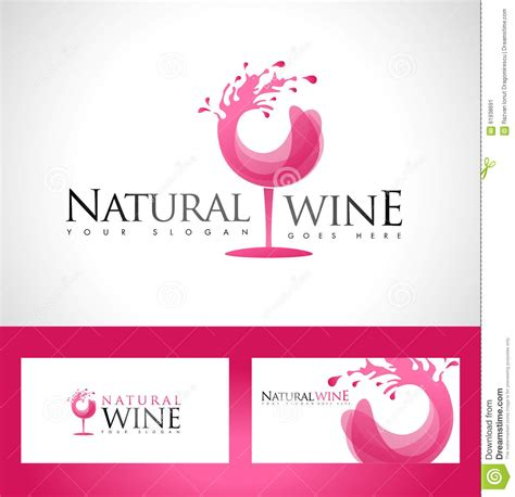 wine card template wine glass logo stock vector image 61938691