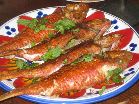Eat In Kitchen Ideas red mullet with romesco sauce recipe spanish food recipe