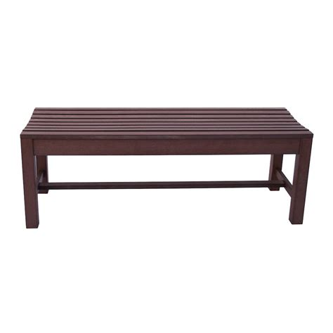 backless benches outdoor 4ft outdoor backless plastic bench chateau brown
