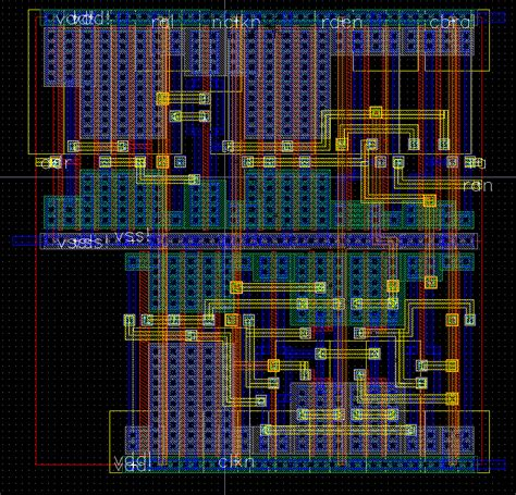 memory layout vlsi 256 kbit sdram design