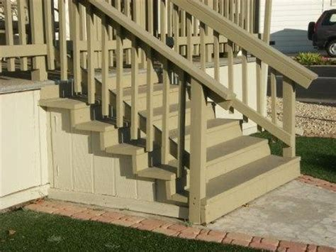 wooden steps easy to work with mobile home stairs are