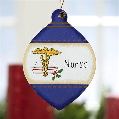 chrisymas nurse craft flat wood quot quot bulb ornament signs ornaments home decor