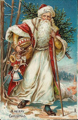 vintage christmassanta claus postcard      flickr