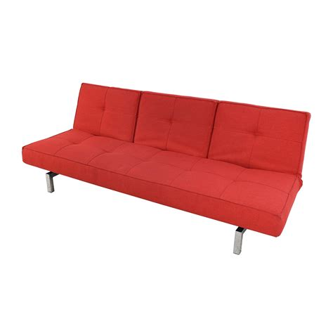 room and board convertible sofa 51 off room and board room board eden convertible red