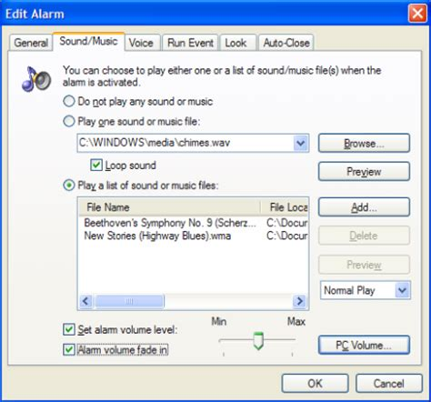 pc alarm clock pro wakes you up to your favorite mp3 songs