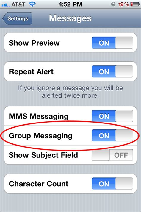 daily tip   enable group mms text messaging imore