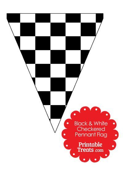 cars birthday banner template black and white checkered pennant banner flag from