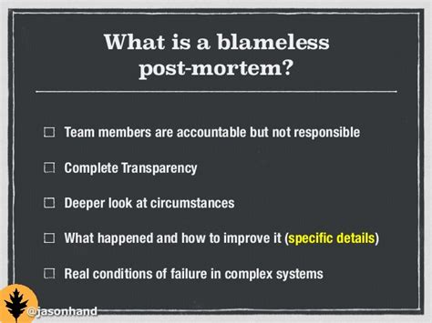 post mortem template powerpoint it s not your fault blameless post mortems