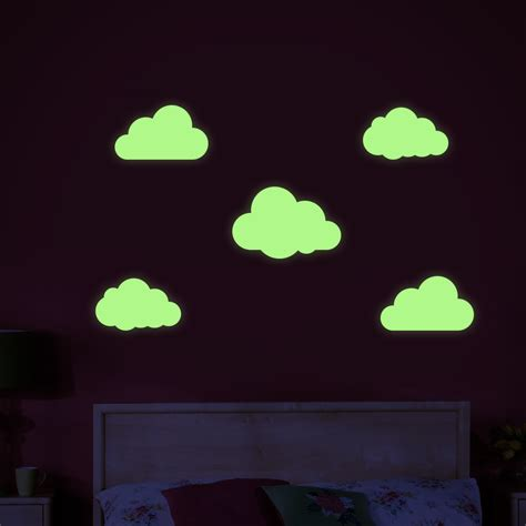 glow in wall stickers glow in the cloud wall stickers note the