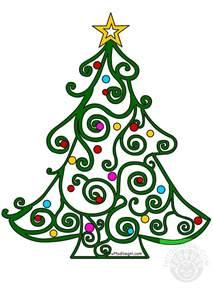 clipart albero di natale albero di natale stilizzato con ghirigori tuttodisegni