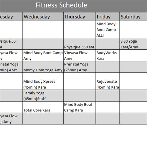 fitness calendar template my excel templates