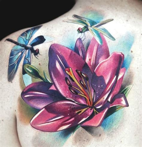 dragon lily tattoo 55 outstanding shoulder designs snaps