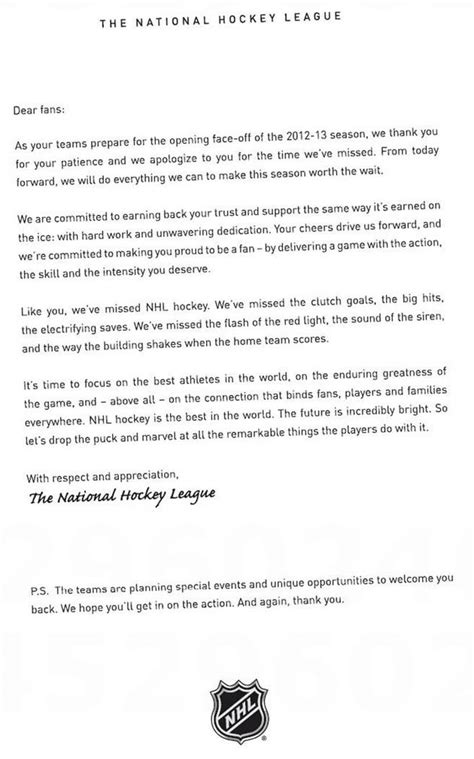 Apology Letter To Yahoo Nhl Uses Page Ad In Newspapers To Apologize To Fans Photo Puck Yahoo Sports