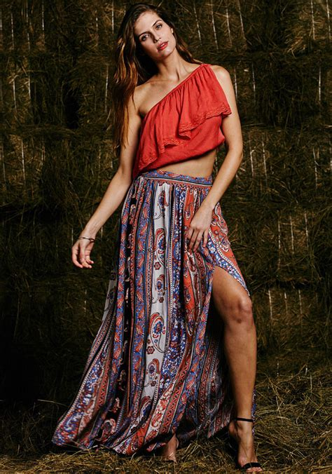 Tribal Boho Oby Dress 1 maxi summer skirt casual skirts fashion new womens boho tribal floral skirts