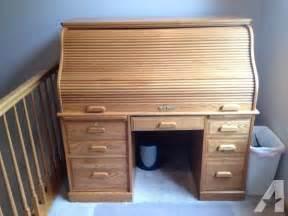 Oak Computer Desks For Sale Oak Roll Top Computer Desk Onalaska For Sale In Lacrosse Wisconsin Classified